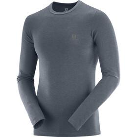 Salomon Outline Shirt col ras-du-cou sans couture Homme, ebony